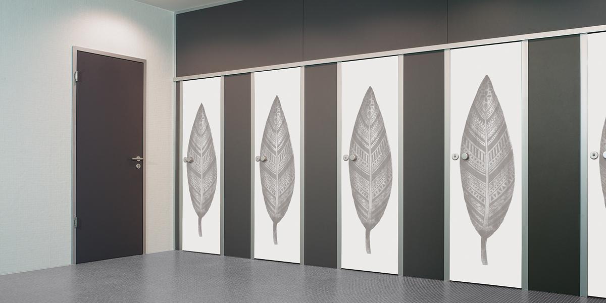 KEMMLIT Sanitäreinrichtungen: WC-Trennwandsystem cronus raumhoch